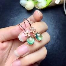 Boucles doreilles en raisin naturel, conception de précision en argent 925, style petite fleur, argent 925, plein de lustre