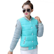 Ветровки равномерное корея зимняя зимние теплые новая куртки хлопка куртка женские
