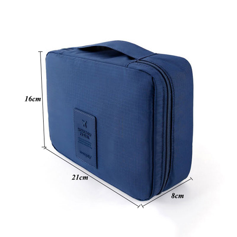 SEREQI Travel Waterproof Toiletry Towel Storage Bag Women Makeup Organizer Case Cosmetic Storage Container Toiletry kits