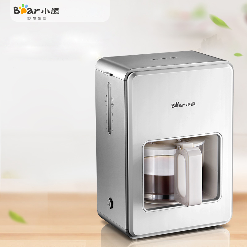 Bear KFJ-A12Z1 American Style Coffee Machine Fully Automatic Commercial 1.2L Insulation Anti-hot LED Lights drip coffee maker home intelligent fully automatic american style coffee machine drip type small is grinding ice cream teapot one machine
