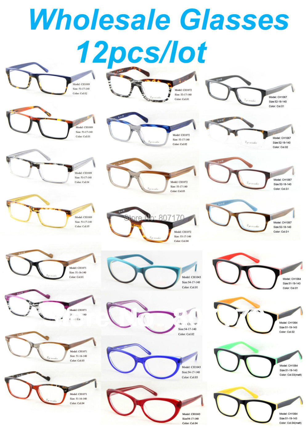 Wholesale Eyewear Accessories Men Eyes Vintage Glasses