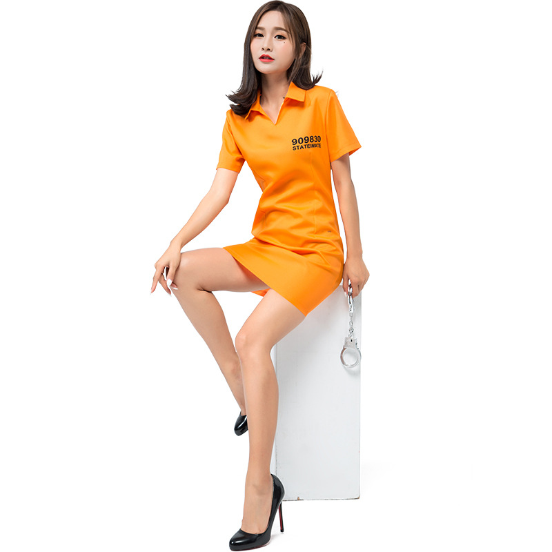 Women Sexy Orange Inmate Prisoner Costume Dress Cosplay Party Fancy Dress for Female Adult Lady Halloween Costumes on Aliexpress.com | Alibaba Group  sc 1 st  AliExpress.com & Women Sexy Orange Inmate Prisoner Costume Dress Cosplay Party Fancy ...