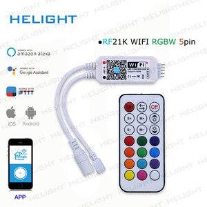 Image 5 - DC12 28V мини WIFI RGB/RGBW контроллер полосы музыкальный контроллер Alexa Google домашний телефон WIFI контроллер для полосы светильник