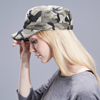 Unisex Army Camouflage Flat Top Mens Wom...