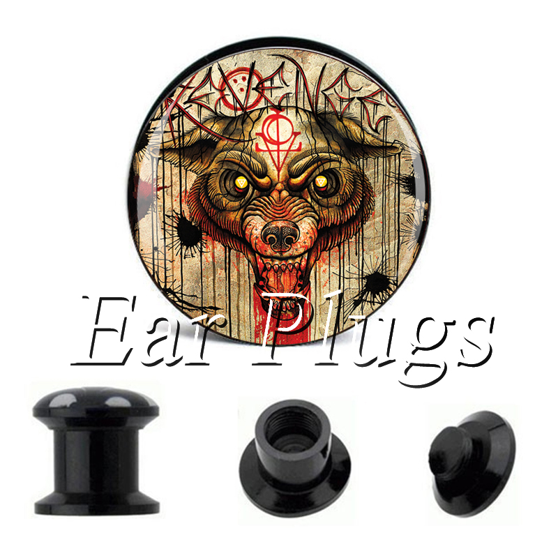 Wholesale Blood Bear plug gauges acrylic screw ear plug flesh tunnel piercing body jewelry