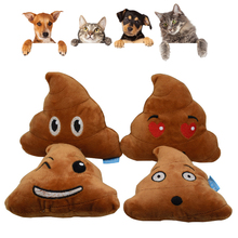 Pet Toy Simulation Poop Fleece Sound Squeak Dog Molars Teeth Plush Stool Supplies