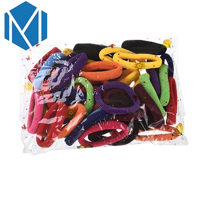 M MISM 50PCS Hair Elastic Bands Gum Rubber Band Bezel For Women Girls Hair Accessories Scrunchy Head Wear Hair Ties