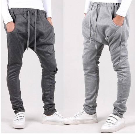 Pantalon homme 2017 de Inverno Dos Homens Calças de Algodão Calças Dos Homens Corredores de Carga Sólida Harem Pants calças para homens pantalones hombre