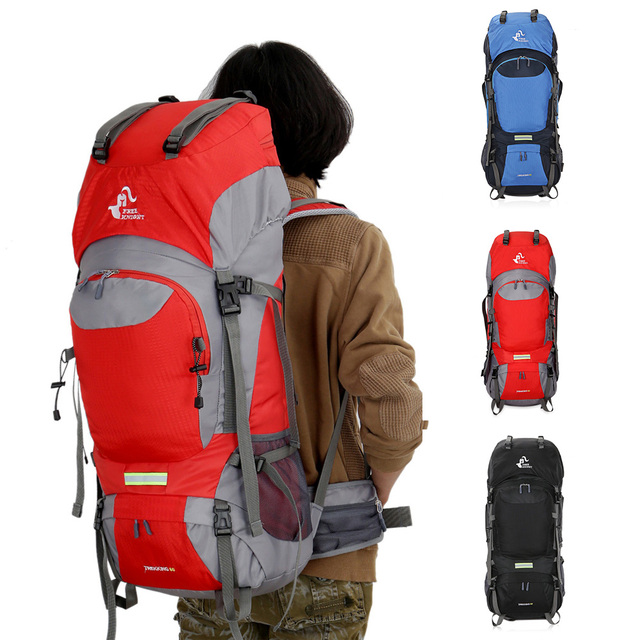 FREE KNIGHT 60L Outdoor Backpack Waterproof Sport Bag Unisex Large Backpack  Camping Climbing Travel Hiking Backpacks Rucksack fceee66a61