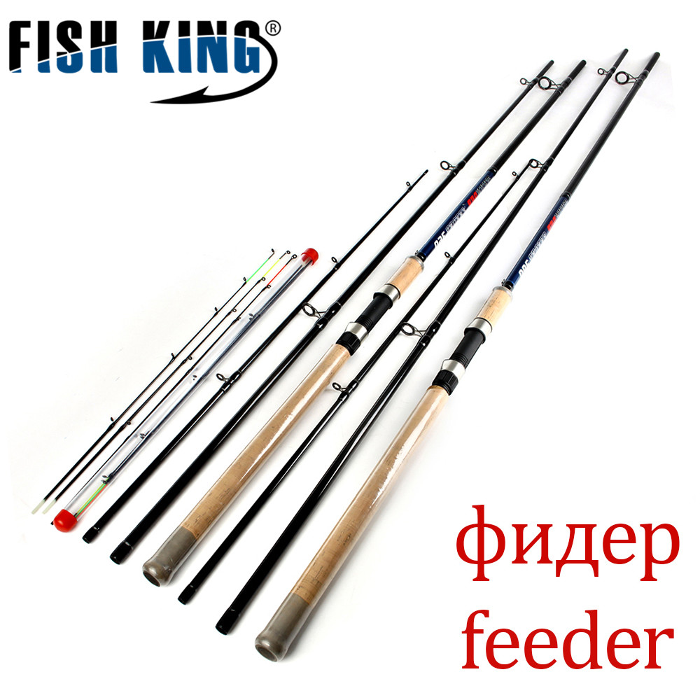 FISH KING Feeder Hoge Carbon Super Power 3 Secties 3.6 M 3.9 M L M H Lokken Gewicht 40-120g Feeder Hengel Feeder Rod