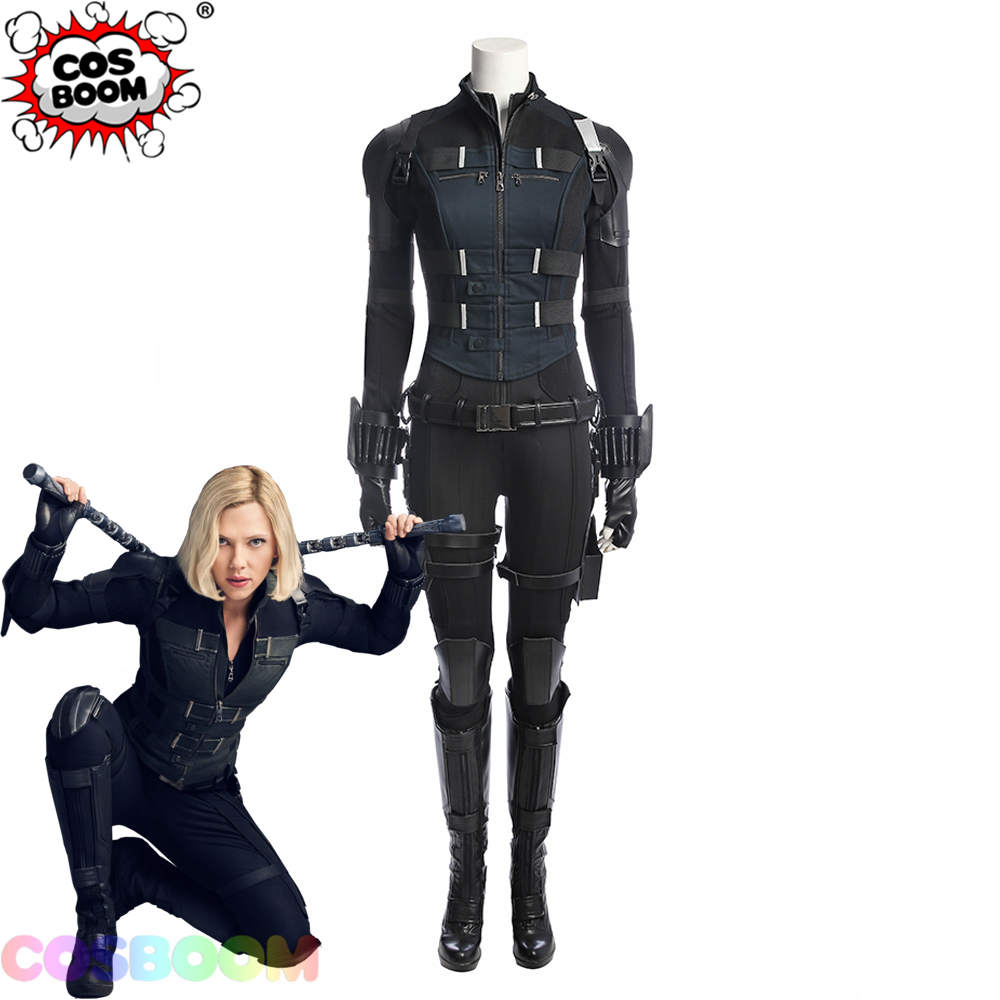 COSBOO Black Widow Costume Avengers Infinity War Natasha Romanoff Jumpsuit Women Halloween Carnival Superhero Cosplay Costume
