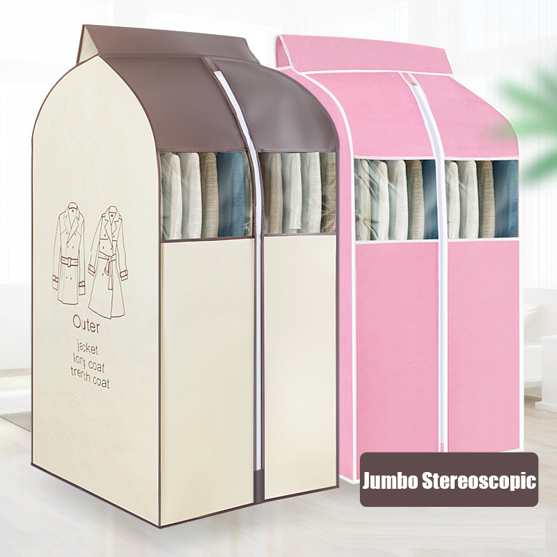 Jumbo Clothes Cover with zipper Stereoscopic Waterproof Dustproof Garment Covers for Outer Panding Dress Coat Cloth Big Cover