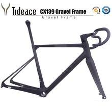 Updated Flat Mount T1000 Carbon Fiber Grave Racing Bike Frame Cyclocross Bicycle Frameset Including Handlebar Stem стоимость