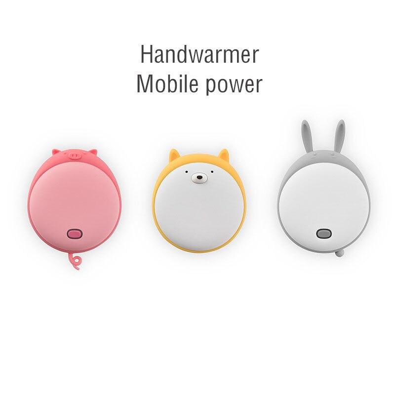 Grasso Pet Scaldino della Mano Stufa Portatile Caldo A Mano Portatile Sveglio Del Telefono Mobile, Ricaricabile Tesoro Mobile di Potere