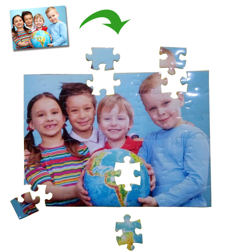 Photos Custom DIY Jigsaw Puzzle Personalized Gift Valentine Anneversity gift for girlfriend 13X18CM with 48pieces Free
