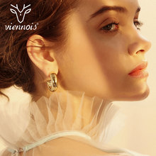 Viennois Fashion Gold/Silver Color Stud Earrings Geometric For Women Alloy Jewelry