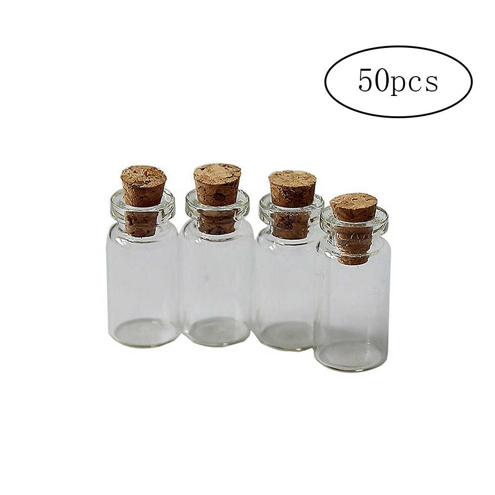 865ae239adce Detail Feedback Questions about 50Pcs Mini Glass Bottles Delicate ...