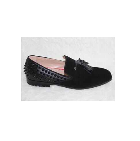 Лидер продаж; модная брендовая дизайнерская мужская обувь; слипоны с заклепками и кисточками; замшевые/кожаные мужские лоферы на плоской подошве; uarache sapato feminino; Мужская обувь; s - 5