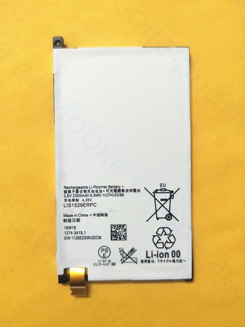 Free shipping 2300mAh high quality Battery For Sony Xperia Z1 mini D5503 Xperia Z1 Compact M51w LIS1529ERPC Replacement Batteria