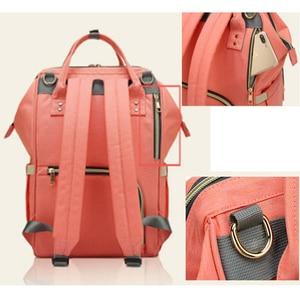 Image 2 - Fashion Brand Large Capacity Baby Bag Travel Backpack Designer Nursing Bag for Baby Mom Backpack Women Carry Care Bags