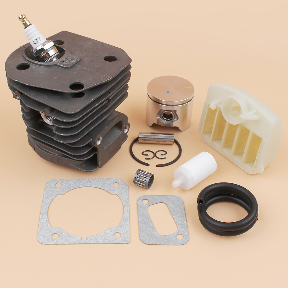 44mm Cylinder Piston Bearing Air Filter Gasket Kit For HUSQVARNA 353 350 346 346XP 351 JONSERED 2150 2152 2153 2149 Chainsaws