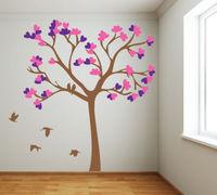 Diy حجم كبير الأخضر شجرة الطيور الفينيل ملصقات الحائط الرئيسية ديكور غرفة المعيشة خلفيات الجداريات الأسرة شجرة جدار صائق D813