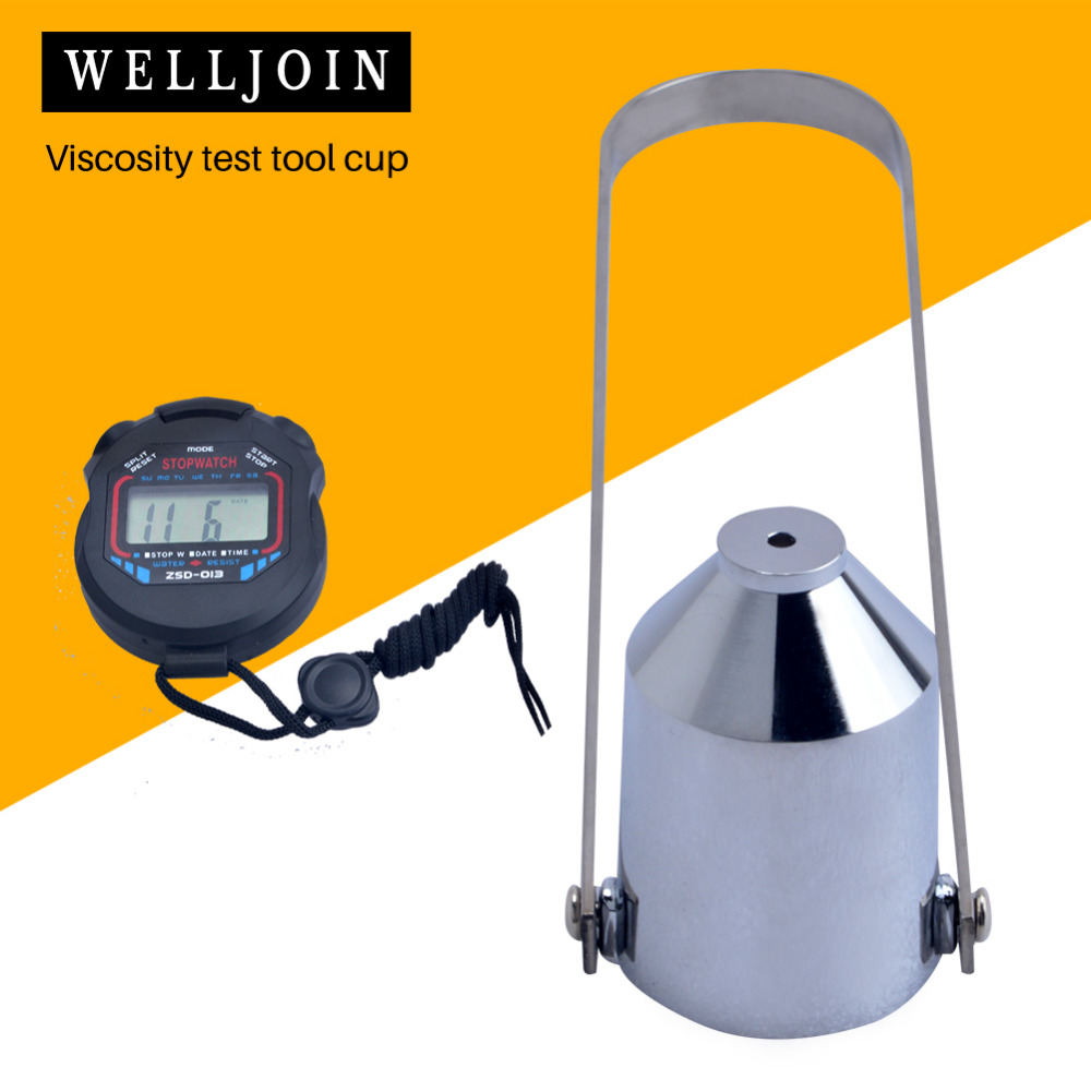 Paint Viscosity Cup Viscometer Flow Cup With Stopwatch Mixing Thinning Tool Viscosity Test Cup 2#