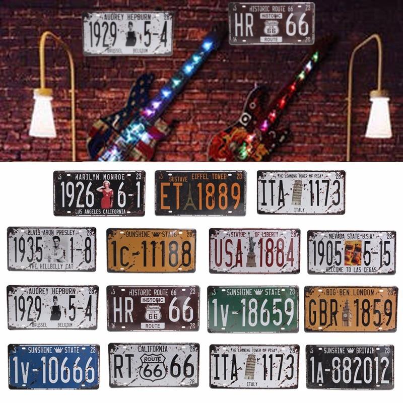 Retro Metal Sign Poster Plaque Bar Pub Club Cafe Home Plate Wall Decor Art Creative Car Plate Decor