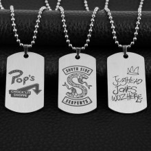 dongsheng TV Riverdale Necklaces South side serpents Chock'lit Shoppe Jughead Jones Metal Pendants Necklaces Women Men Jewelry-3(China)