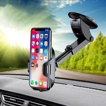 Soporte Universal para Smartphone soporte de teléfono móvil para coche soporte móvil para salpicadero soporte para parabrisas soporte para teléfono móvil|Soportes de escritorio para teléfono| |  -