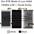 Black/White LCD+TP For ZTE Blade G Lux / Kis 3 Max V830 V830W LCD Display with Touch Screen Digitizer Smartphone Replacement