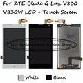 Preto/branco lcd + tp para zte blade g lux/kis 3 Max V830 V830W Display LCD com Digitador Da Tela de Toque do Smartphone substituição