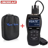 OBD2 Automotive Scanner OBD Car Diagnostic Tool VGATEVS890 Car Diagnostic Obd2 Scanner Spanish French German And