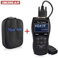 OBD2 Automotive Scanner OBD Car Diagnostic Tool VGATEVS890 Car Diagnostic Obd2 Scanner Spanish French German And