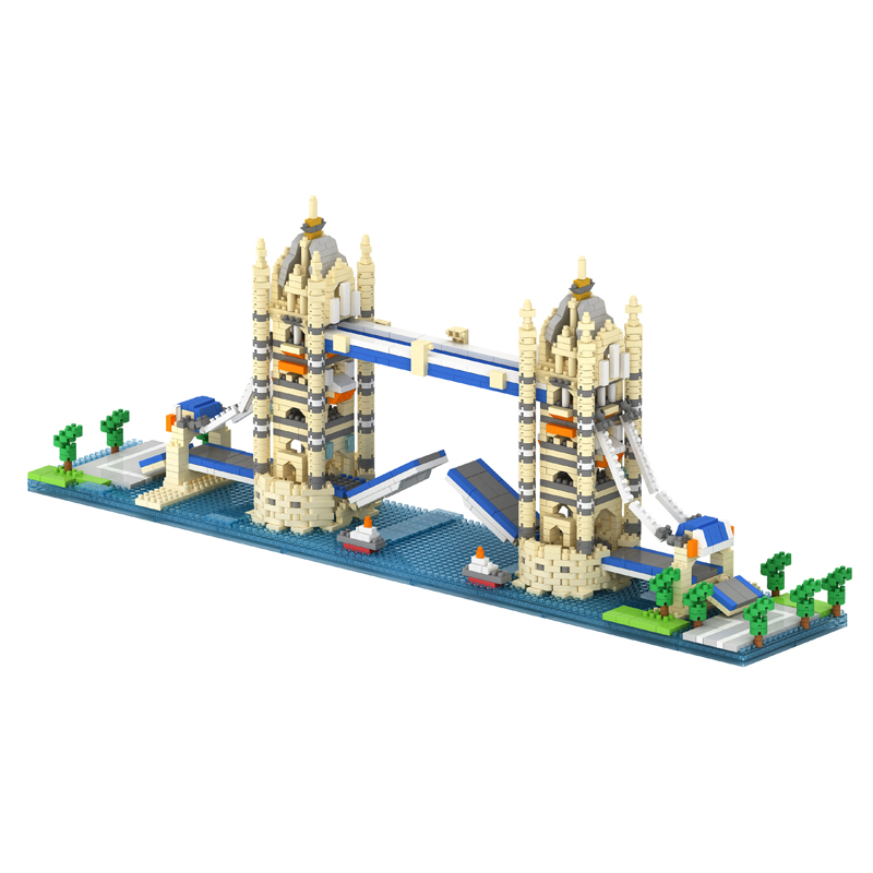 TATCO World Architecture DIY Building Bricks Pyramid Kids toys Petronas Towers Educational Toys golden gate bridge metal 3d jigsaw puzzles for kids stainless steel diy assembly model building architecture educational toys