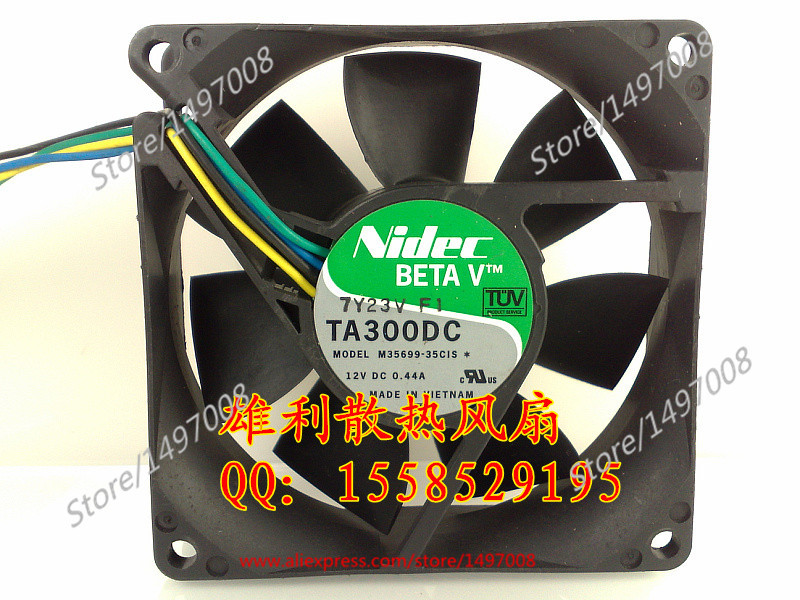 Free Shipping For Nidec M35699-35CIS  DC 12V 0.44A 4-wire 80mm, 80x80x25mm Server Square fan dhl ems 4 sets genuine for cis co cab spwr 150cm stacking power cable for for cis co 3750x switch