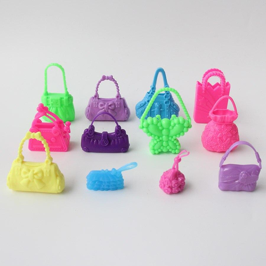10 unids/lote moda muñeca Bolsas Accesorios juguete en forma de ...