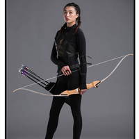 68inch 20 30lbs Archery Recurve Bow Wooden Shooting Hunting Bow Arrow Take Down Wood Bow Outdoor Sports Game Practice