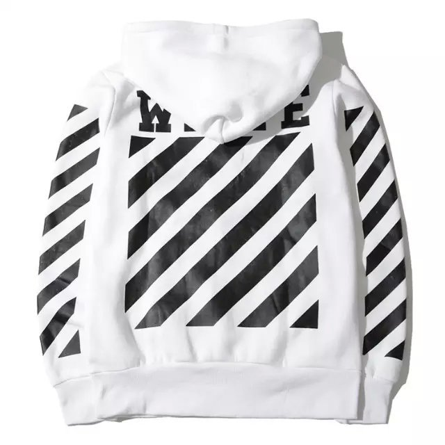 OFF WHITE C/O VIRGIL ABLOH religion stripe hoodies Kanye West top ...