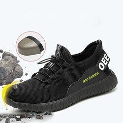 Męskie buty myśliwskie oddychające buty ochronne anty-piercing anty-smash bezpieczeństwo w miejscu trampki guma miękka dno buty górskie