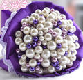 Beautiful Artificial White Pearl Wedding bouquet pearl Wedding Accessories Bridal Bouquets FW136