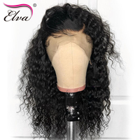 13x6 Curly Lace Front Human Hair Wigs For Black Women 150% Density Brazilian Remy Hair Lace Front Wig With Baby Hair Elva 10 24