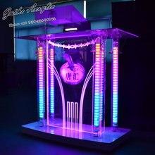 Дешевый высококачественный акриловый светодиодный диджейский стенд для ночного клуба, вечерние, свадебные заборы Для DMX контроллера