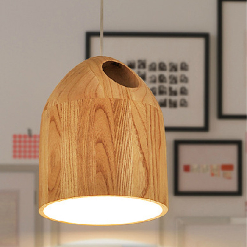 все цены на  Nordic Creative solid Wood Led Pendant light Cafe Restaurant Wood Pendant lamp Modern lighting Hanging Lamp for Home Lighting  в интернете