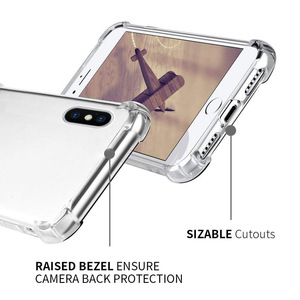 Image 2 - Suntaiho super à prova de choque claro caso macio para o iphone xs max 6 s 7 8 plus 6plus 6splus silicone telefone celular de luxo capa traseira