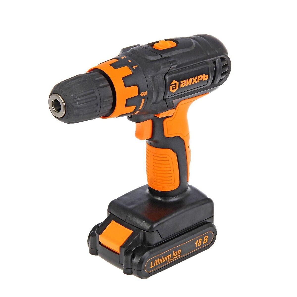 Cordless drill-screwdriver VIHR DA-18L-2K