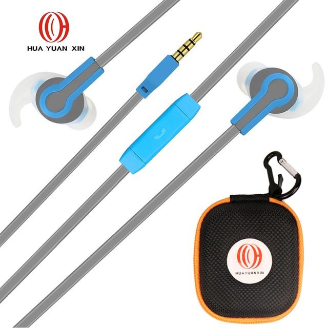 Оригинальные спортивные наушники с микрофоном stereo bass гарнитура для oppo мобильный телефон samsung для xiaomi * mi lg iphone hr01