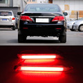 2 PCS LED Bumper Refletor Luz Traseira Estacionamento Aviso Vermelho Parar Luzes de freio luz Da Cauda Para A Toyota Camry 2011 2012 2013 2014