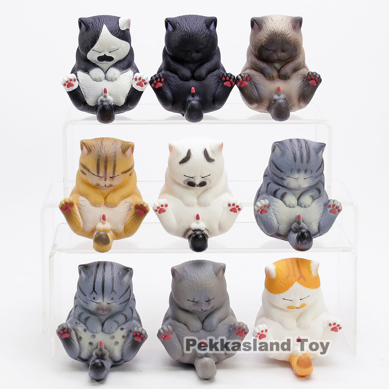 Cartoon Cat Bells Vol.3 Kawaii PVC painted collectible figrurine toy kids gift 9pcs/setCartoon Cat Bells Vol.3 Kawaii PVC painted collectible figrurine toy kids gift 9pcs/set