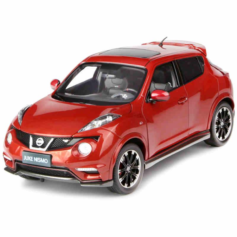 Red 1:18 Nissan Juke Nismo RS 2014 City Car Alloy Model Vehicle MINI CITY SUV Hot Hatch Diecast Miniature autoart 1 18 nissan alto skyline nismo s1 alloy model car